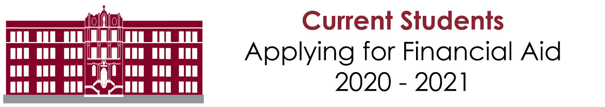 Current Students- Applying for Financial Aid